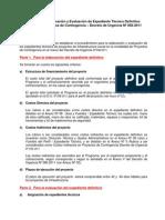 Pautas para elaboración y evaluación de expediente técnico definitivo aplicado a Proyectos de Contingencia DU-058