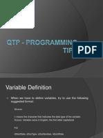 QTP - Programming Tips