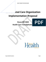 Coordinated Care Organization Implementation Proposal