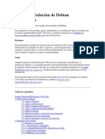 Guía de instalación de Debian GNU