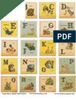 ROOKNO17 Vintage Nursery Alphabet Blocks a-T