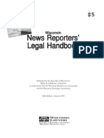 Wisconsin News Reporters' Legal Handbook