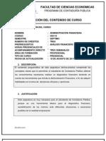 Formato Contenido Curso Admin is Trac Ion Financier A 2011-2