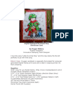 RRA 2011 Holiday Glitz Edition Digital Stamp Drummer Boy Christmas Card by Peggie Wilkins