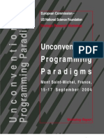 Unconventional Programming Paradigms 2004