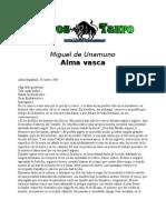 Unamuno, Miguel de - Alma Vasca