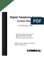 Comdial DSU ion & Programming Manual