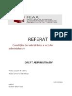 Conditii de Valabilitate Alea Actelor Administrative