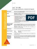 Aditivo Reductor Agua Retard Ante Fraguado Plastocrete 161 Mr