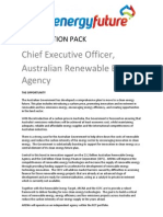 ARENA Chief Executive Officer - job application