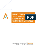 Using Avalara CertCapture to Automate the Exemption Certificate Lifecycle
