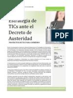 Estrategia de TIC Decreto Austeridad