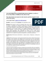 Los Movimientos Antisistemicos de America Latina