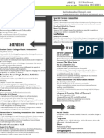 Resume as of Dec 2011