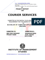Courier Service Project Report