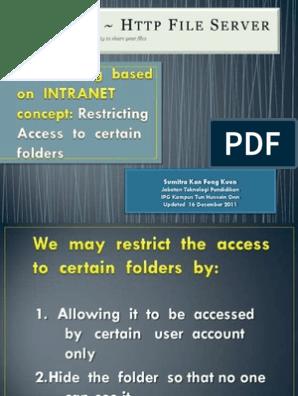 HFS: Restrict Folder Access   Login   Directory (Computing)