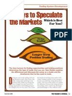 3 Ways to Speculate the Markets