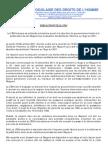 Mise au point LTDH Rapport 2011