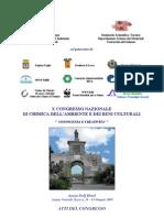 ATTI X Congresso Nazionale Chimica dell' Ambiente e dei Beni Culturali