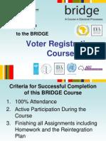BRIDGE Voter Registration PPT Accra July 2011