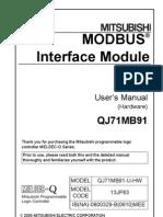 MODBUS Interface Module QJ71MB91 Users Manual Hardware IB_NA_-0800329-B