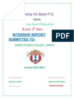 Internship on Bank P