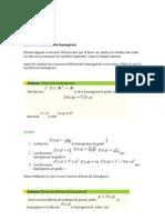 Ecuaciones diferenciales homogéneas