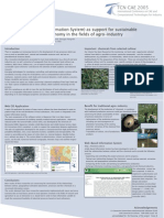 Web GIS as support for sustainable development local economy in the fields of agro-industry and fine chemicals