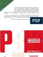 Eumig Projector P8 Automatic Novo User Manual