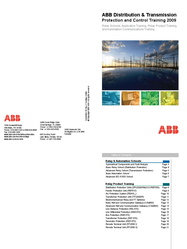 ABB Distribution And Transmission Protection And Control - Abb basic relay school