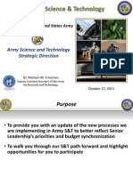 2011 - Army Science & Technology