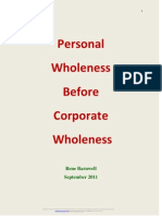 Personal Wholeness Before Corporate Wholeness