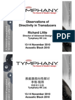 Observations of Directivity in Transducers
