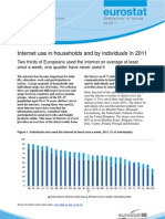 Internet use in households and by individuals in 2011  - KS-SF-11-066-EN