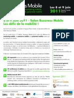 Salon Buzzness Mobile - Les défis de la mobilité ! (communiqué de presse)