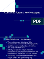 Skills Forum Key Messages Sj