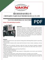 Lubricating Oil Purifier NAKIN