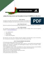 adidasrunning - Adventskalender Berlin-Marathon