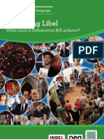 Reforming Libel - What Must a Defamation Bill achieve