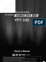 Yamaha PSR e333 - Manual En