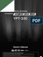 Yamaha PSR e333 - Manual En