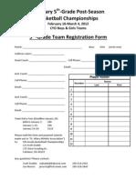 5th Basketball Championships Registration