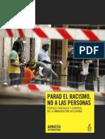 Parad el racismo, no a las personas. Perfiles raciales y control de la inmigración en España