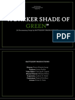 A Darker Shade of Green Script