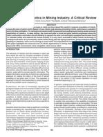 Application of Robotics in Mining Industry