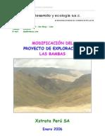 Modificacion Del Proyecto Las Bambas