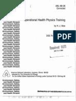 Operational Health Physics Training by HJ Moe