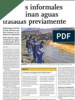 Mineria contamina ríos en Mantaro Perú