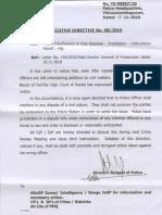 Police Interference in Civil Disputes Circular