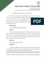 Uma breve dissertação sobre o artigo 5_XI_da_CF_88
